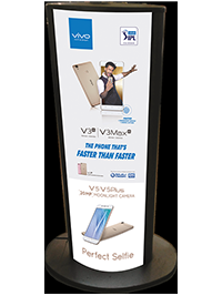 Advertisement stand with backlight